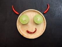 Sorriso del diavolo Fotografie Stock
