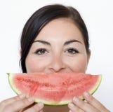 Sorriso del melone Immagini Stock