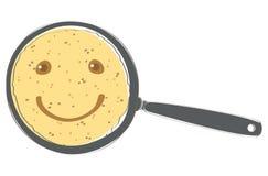 Sorriso del pancake Fotografia Stock Libera da Diritti