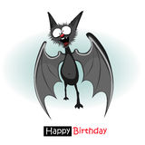 Sorriso del pipistrello di buon compleanno Fotografia Stock