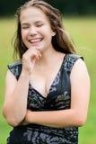 Sorriso dell'adolescente Fotografia Stock