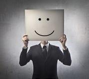 Sorriso dell'uomo d'affari Fotografia Stock Libera da Diritti