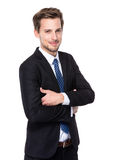 Sorriso dell'uomo d'affari Immagini Stock Libere da Diritti