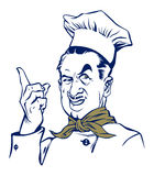 Sorriso dell'uomo del cuoco Fotografie Stock