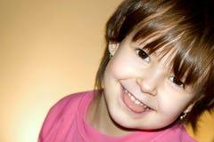 Sorriso della bambina Fotografie Stock