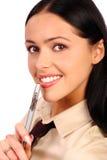 Sorriso della donna di affari fotografie stock libere da diritti