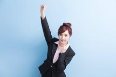 Sorriso della donna di affari a voi Fotografia Stock Libera da Diritti