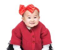 Sorriso della neonata dell'Asia immagine stock