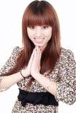 Sorriso della ragazza dell'Asia Immagini Stock