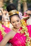 Sorriso della signora nel festival trentaseesimo del fiore di Chiangmai. Fotografie Stock