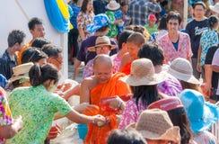 Sorriso della Tailandia di festival di Songkran Fotografie Stock Libere da Diritti