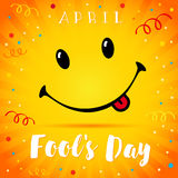 Sorriso di April Fools Day Immagine Stock