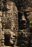 Sorriso di Khmer in Bayon Wat, Siem Riep, Cambogia Immagine Stock