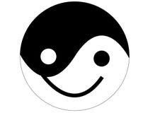 Sorriso di Yin yang Fotografie Stock Libere da Diritti