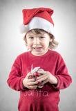 Sorriso diabolico Santa Fotografia Stock Libera da Diritti