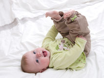 Sorriso do bebê Fotografia de Stock