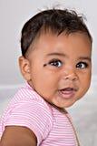 Sorriso do bebê do bebê de sete meses Foto de Stock Royalty Free