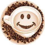 Sorriso do café do copo ilustração royalty free