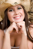 Sorriso do Cowgirl imagens de stock