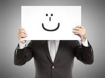 Sorriso do homem de negócio Imagem de Stock