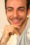 Sorriso do homem de negócio fotografia de stock