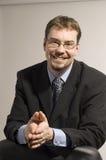 Sorriso do homem de negócios Fotos de Stock Royalty Free