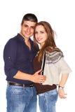 Sorriso do homem e da mulher Imagens de Stock