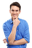Sorriso do homem novo Foto de Stock Royalty Free