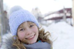 Sorriso do inverno Imagens de Stock Royalty Free