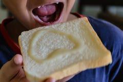 Sorriso do pão Foto de Stock Royalty Free