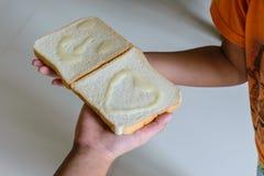 Sorriso do pão Fotografia de Stock