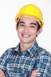 Sorriso do trabalhador Fotos de Stock Royalty Free