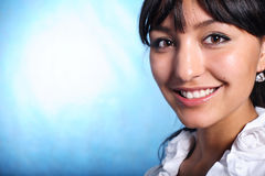 Sorriso do trabalhador de escritório Imagens de Stock Royalty Free