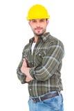 sorriso do trabalhador manual Fotografia de Stock Royalty Free
