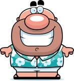 Sorriso do turista dos desenhos animados ilustração do vetor