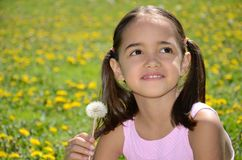 Sorriso doce da menina Fotos de Stock Royalty Free