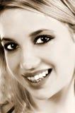 Sorriso dolce Fotografie Stock
