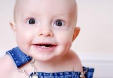 Sorriso dos dentes de bebê Imagem de Stock