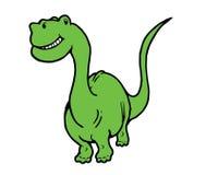 Sorriso e dinossauro feliz Fotos de Stock Royalty Free