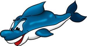 Sorriso e golfinho inteligente ilustração stock