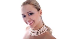 Sorriso e pérolas fotos de stock royalty free