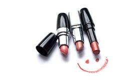 Sorriso e rossetti Immagini Stock Libere da Diritti