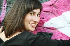 Sorriso e vista Fotografia Stock