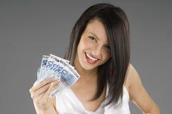 Sorriso ed euro Fotografia Stock