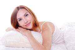 Sorriso encantador da mulher Imagem de Stock