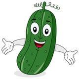 Sorriso engraçado do caráter do pepino Foto de Stock Royalty Free