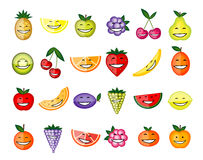 Sorriso engraçado dos caráteres da fruta Fotografia de Stock Royalty Free
