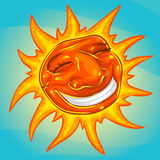 Sorriso ensolarado ilustração royalty free