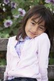 Sorriso exterior da menina bonita Imagem de Stock