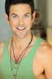 Sorriso eyed verde do homem Imagens de Stock Royalty Free